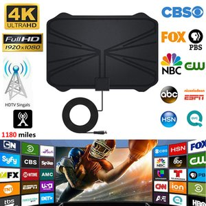 4K Digital HDTV aerea coperta antenna amplificata 1180 miglia di gamma HD1080P DVBT2 Freeview HD TV Antenna TV digitale