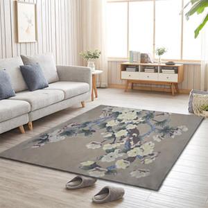 ALITEXTILEBTOC Plus Size Carpet 100% Wool Hand Carved Floral Tapis Salon For Home Parlor Rectangle Non-slip Parlor Soft Carpet