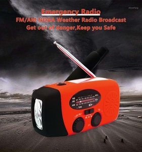 earthquake disaster Portable Hand Crank Solar Radio,AM FM NOAA Weather Radio with LED , 1000mAh Power Bank for1