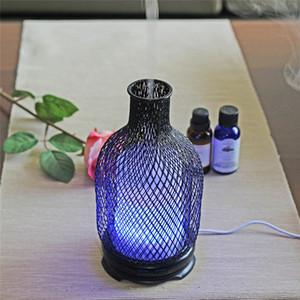 Стальной ультразвуковой воздушный увлажнитель красочный ночной свет 120 мл емкостью эфирным маслом аромата диффузор воды спрей бутылка для бутылкой воды морская доставка HHE3824