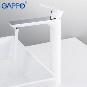 Gappo White Basin Wasserhahn Badezimmer Wasserhahn Mischer Wasserhahn Waschbecken Wasserhaare Wasserfall Deck montierte Taps1