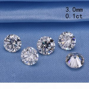 Pass the diamond tester 3.0mm 0.1ct round gh brilliant cut moissanites loose stone for engagement rings good price S923