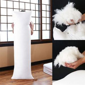 150x50cm Long Dakimakura Hugging Body Pillow Inner Insert Anime Body Pillow Core White Pillow Interior Home Use Cushion Filling 201130
