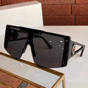 Popular fashion avant-garde design sunglasses 4393 connected lens oversized frame new catwalk punk style high quality goggle VE4293