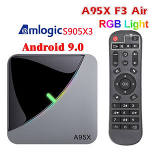 A95X F3 Air 8K RGB Light TV Box Android 9 Amlogic S905X3 4GB 32GB Wifi 4K Smart TVBOX Android A95XF3 Set top box