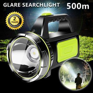 WAKYME 500W 6000mAh Spotlight Camping Lantern Waterproof Searchlight USB Rechargeable Work Light Portable Torch