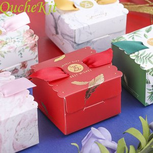 50pcs or plum Angel carton gift baby shower discount sweet box chocolate bag wedding candy box packaging box
