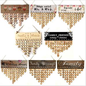 Date Famiglia Legno e amici Calendario Anniversario Promemoria Consiglio fai da te segno speciale cartello appeso Decorazioni di Natale LSK1881