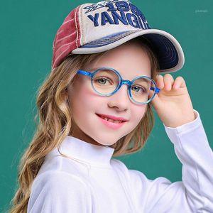 Junior Boy Girl Girl Glasses Enfants Anti Blue Ray TR90 Cadre optique CLÉPART CLEAR INFORMATION Lecture Reflective Eyeglasse 4-12 UV Filtre 20201