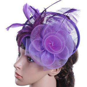 New Fashion Net Feather Women Fascinator Elegant Headband Clip Wedding Bridal Ladies Party Hat