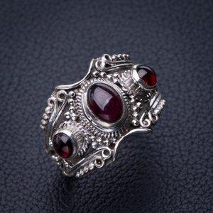 Stargems Natürlicher Amethyst Handmade 925 Sterling Silber Ring 8.25 E2716 W1231