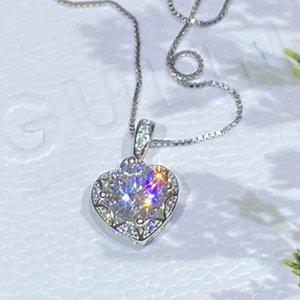 Mozanstone pendant love heart-shaped necklace female classic diamond peach heart accessories hot Mozambique