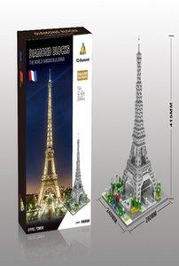 مشاهير العالم الحديث العمارة المناظر الطبيعية مايكرو الماس كتلة البناء وبرج ايفل باريس فرنسا ريك نموذج لعبة yxlGHt toptrimmer