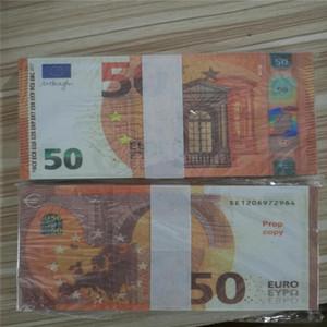 Fake Geld-Banknoten Euro-Prop-Geldpapier EUR 10 20 50 100 200 500 Bills Preis Banknotengeschäftsgeschenke Gefälschte Papiergeld für Sammlung