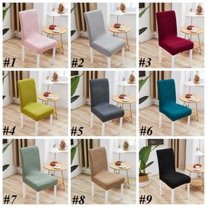 Dining Chair Cover Spandex 14 Color Slipcover Protector Case Stretch for Kitchen Chair Seat Hotel Banquet Elastic Chair Cover LLS649
