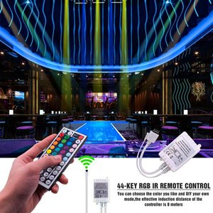 Flexible Lighting Plastic 150-LED 12V-5050 RGB IR44 Light Strip Set with IR Remote Controller (White Lamp Plate) free delivery