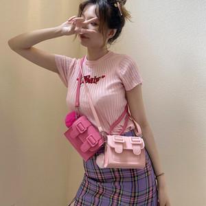 de Verão Mulheres pequeno mensageiro 2020 New Moda coreano on-line Red Versátil Ins moda Shoulder Cambridge Bag C1114