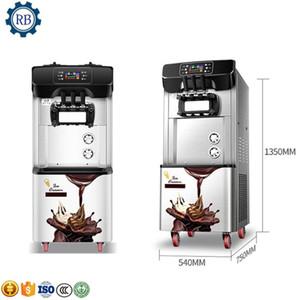 220V aço inoxidável Soft Serve Ice Cream Machine / Ice Cream faz a máquina