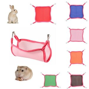 Summer Outdoor Two Size Squirrel Small Mesh Hammock Cute Pet Square Home Breathable Mesh Hammocks 6 Colors Squirrel Hammock DH1062-2 T03
