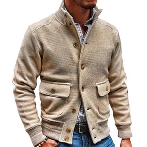Korean Style Men's Jackets Autumn Spring Men Top Coats Mens Casual Fashion Solid Color Stand Collar Jacket Male Outerwear Jaquet