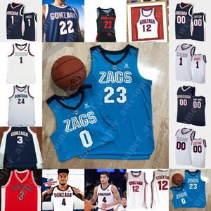 NCAA GONZAGA Bulldogs Basketbol Jersey Corey Kispert Drew Timme Jalen Suggs Andrew Nembhard Joel Ayayi Anton Watson Oumar Ballo Aaron Cook