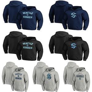 Homme de Seattle Kraken Sweat à capuche Pull à capuche Hockey Jerseys 100% Broderie Double Jerseys Shirt De Bonne Qualité Personnalisé Jersey