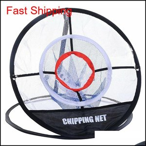 Golf Up Interoor Outdoor Chipping Pitching Cage Mages Practice Easy Net Golf Golf Aids Aids Metal + Net Tovan BGPQO