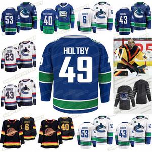 49 Брейден Холтби Ванкувер пятидесятых Бо Хорват Quinn Хьюз Капитан Брок Бозер Elias Pettersson Тайлер Toffoli Хоккей Джерси