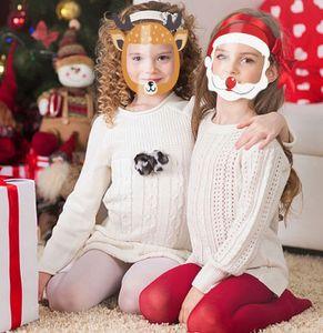 Children Face Shield 10pcs Halloween Transparent Mask Clear PET Reusable Anti Splash Christmas New Year Cartoon Protective Mask GH885