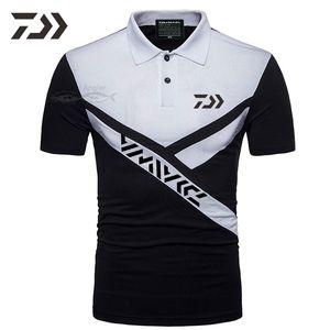 T-shirt fishing clothing polo shirt fishing shirt men's breathing sports button outdoor clothing high relaxation