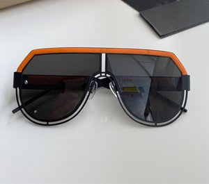 new men sunglasses 2231 fashion big oval sunglasses coating grey and brown lens metal frame color plated frame UV400 lens top quality