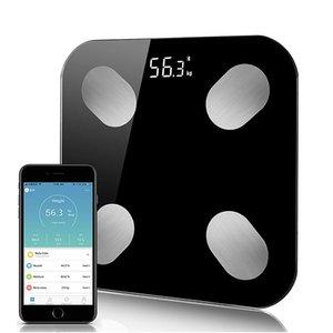 Smart Bluetooth Body Scale Fat Digital Bathroom Scales Measure Weight Health Balance Fat Water Muscle Mass BMI Floor Balance 201124
