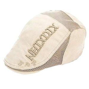Männer Outdoor-Geschenk-Mode Sweat Absorbent justierbare Hüte Beiläufiges Visor Verschleißfestigkeit Letter-Muster Dome Stickerei Beret Ineinander greifen