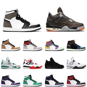 Oscuro Mocha air jordan 1 hombres mujeres 1s zapatos de baloncesto jordan 1 Obsidian 4 4S 2020 Fire Red Starfish Cactus Jack Mens Trainers Deportes Zapatillas deportivas