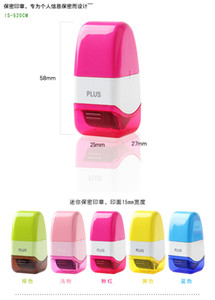 Mini Identity Theft Security Stamp Roller Id Theft Protection Stamps Personal Information Security Tools Hide Id Garbled Self-inking Stamp