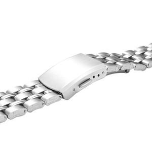 삼성 갤럭시 시계를위한 22mm 20mm 시계 밴드 스테인레스 스틸 스트랩 46mm 42mm 활성 2 기어 S3 S2 시계 밴드 H QYLCLV