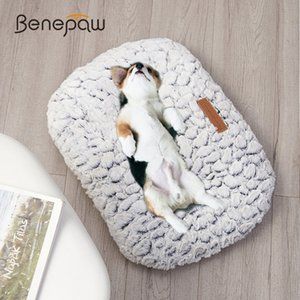 Benepaw Autumn Winter Warm Dog Bed Soft Comfortable Thick Plush Antislip Puppy Pet Mat Cushion For Small Medium Large Dogs Cats 201125