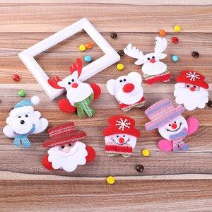 Distintivo LED Natale Spille Christmas Snowman Spilla Medaglia di Natale Accessori bambini spilla distintivo decorazioni di Babbo Natale w-00335