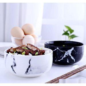 marble grain ceramic bowls kitchen dinnerware tableware modern design ceramic bowl noodle soup bowl xFBrw