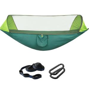 Outdoor Camping Hammock with Mosquito Net -Up Light Parachute Hammocks Swing Sleeping Hammock Camping Stuff