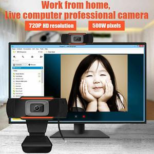 Câmera da Web da Web da Web do USB HD 1080P 720P 480P PC 480P Registro de vídeo absorvente de microfone de som para computador
