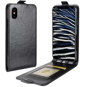 Flip Leather Case Open Up-Down pour iPhone X Aimant fermeture TPU cuir flip cas pour l'iPhone X Case