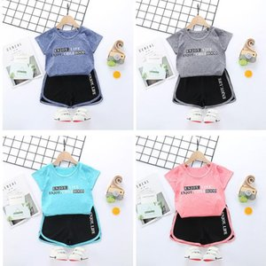 Wholesale 2020 summer new children's quick dry clothes boys T-shirt sports suit Girls Summer children's wear
