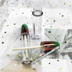 20pcs50pcs New Empty Transparent Lip Gloss Tube Rainbow Shape Cap Cosmetic Lip Refillable Container Oil packing1
