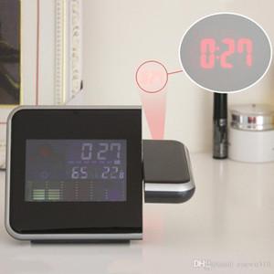 Time Watch Projector Multi Function Digital Alarm Clocks Color Screen Desktop Clock Display Weather Calendar Time Projector VT0235