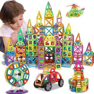 KACUU Magnetic Designer Bau Bau-Spielzeug 157PCS Big Size Magnetic Blocks Magnete Building Blocks Spielzeug für Kinder 201009