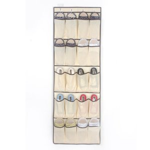 20 Pocket Hanging Shoe Storage Bag Organizer Rack Non-woven fabric Hanging Storage for Storing Shoes Belts and Other Accessories