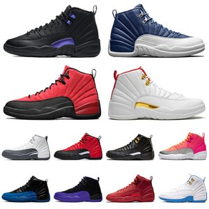 retro 12 12s 12 XII رجل حذاء كرة السلة 12 ثانية جديد JUMPMAN 23 DARK CONCOR Stone Blue Reverse Flu Game Hot Punch Trainers Sport Sneakers Size 13