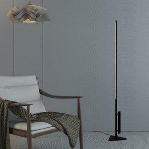 Modern Black LED Floor Lamp Living Room Bedroom Studio Strip T5 Tube creative Designer Floor Light New Fixture Lighting