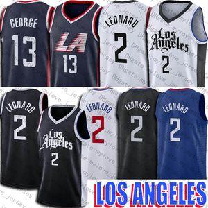 Kawhi Basketball 2 Leonard Jersey Paul 13 George Jerseys Los Angeleses Jersey 2021 Uniforme de la ciudad